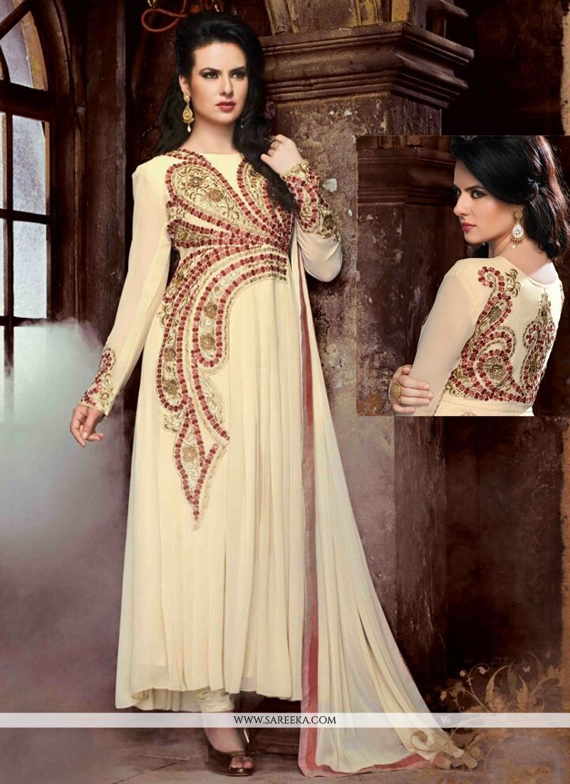 Georgette Embroidered Work Anarkali Suit
