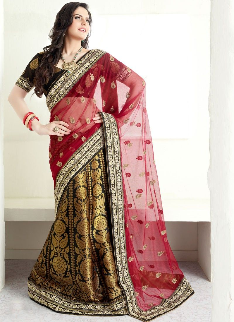 Half And Half Lehenga Saree