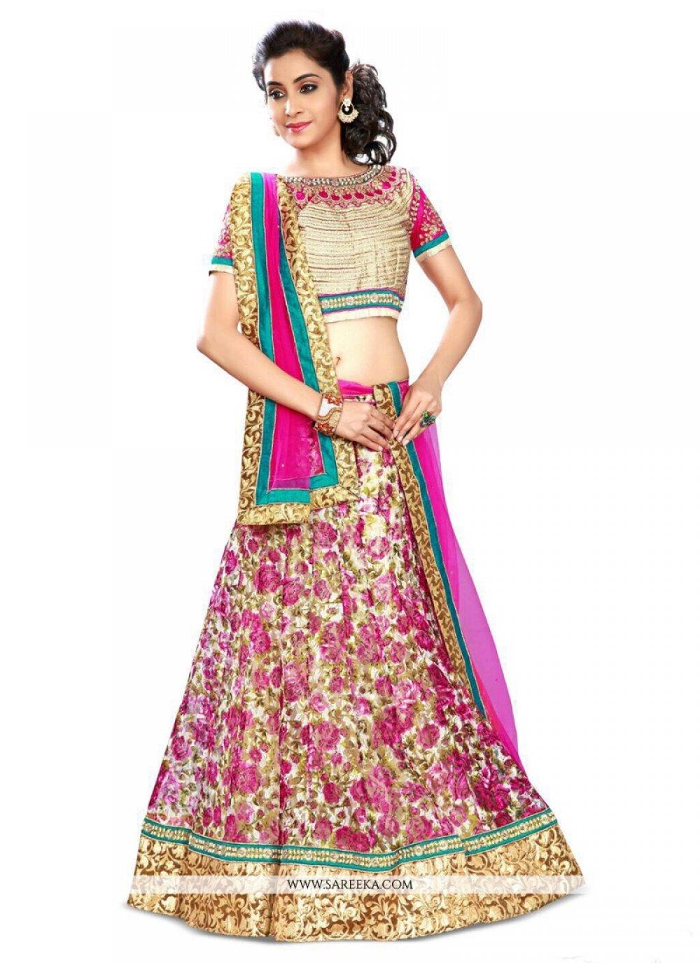 Multi Colour A Line Lehenga Choli