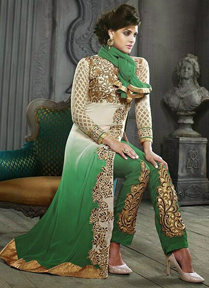 de49d899d Sea Green Embroidery Pakistani Suit -