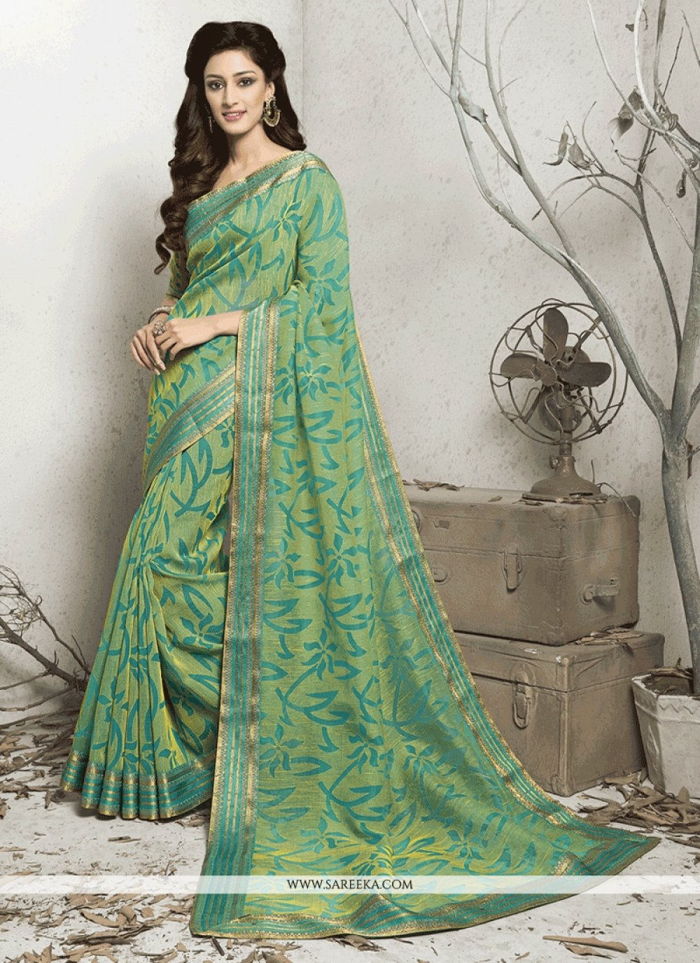 Brasso Lace Work Casual Saree