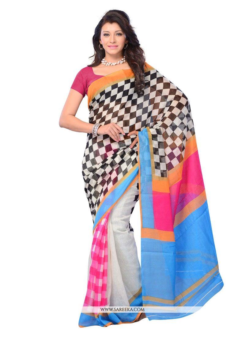 Cotton   Multi Colour Casual Saree