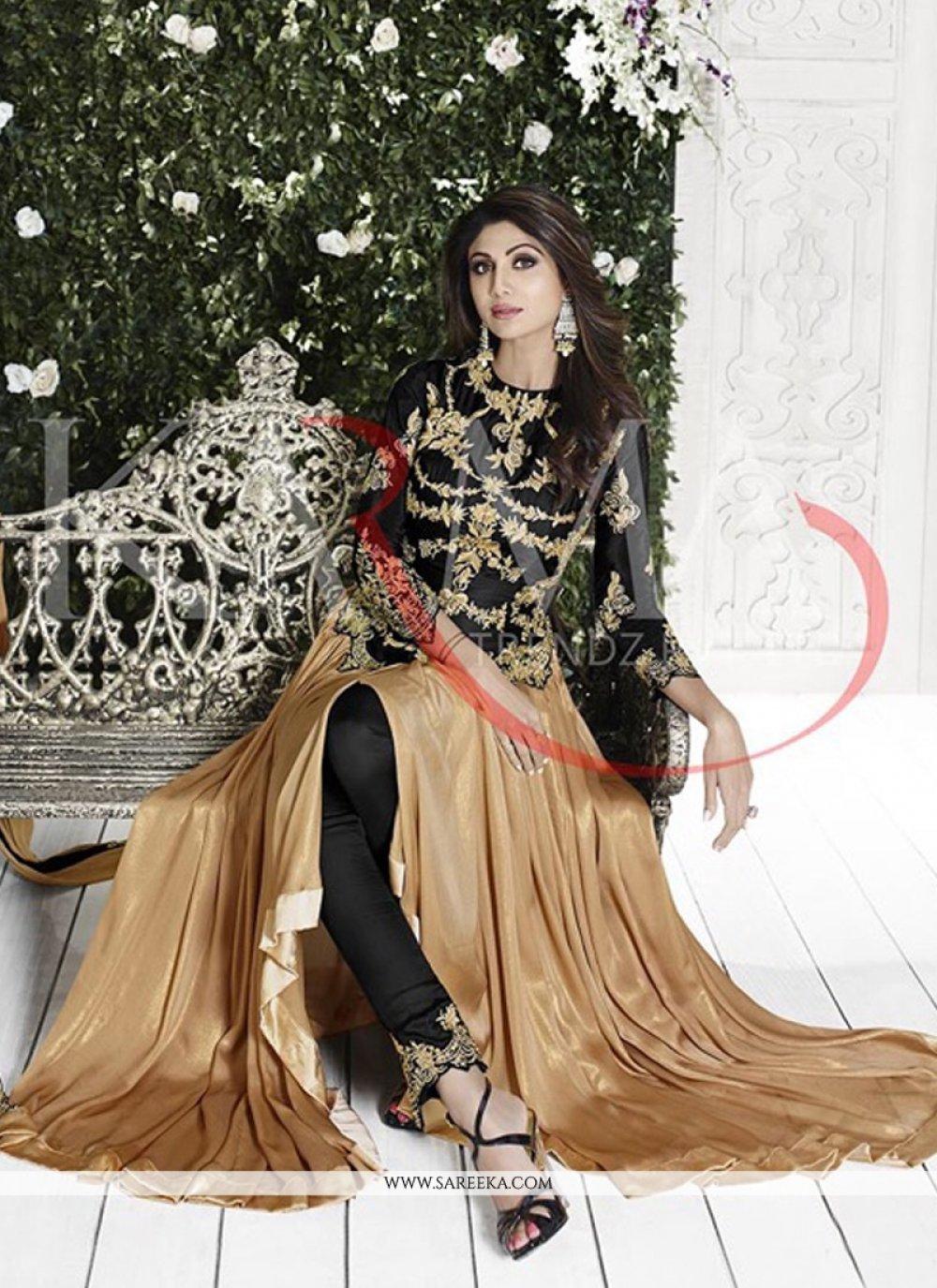 Shilpa Shetty Patch Border Work Designer Suit