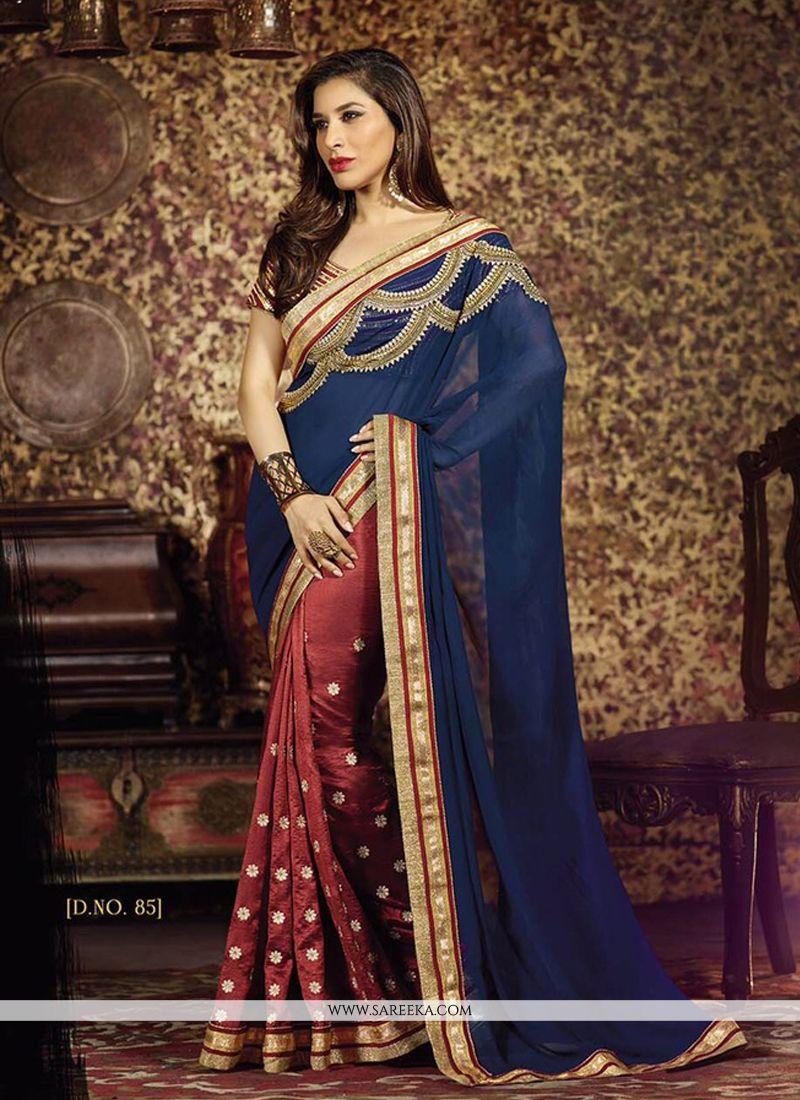 Sophie Chaudhary Silk Designer Half N Half saree