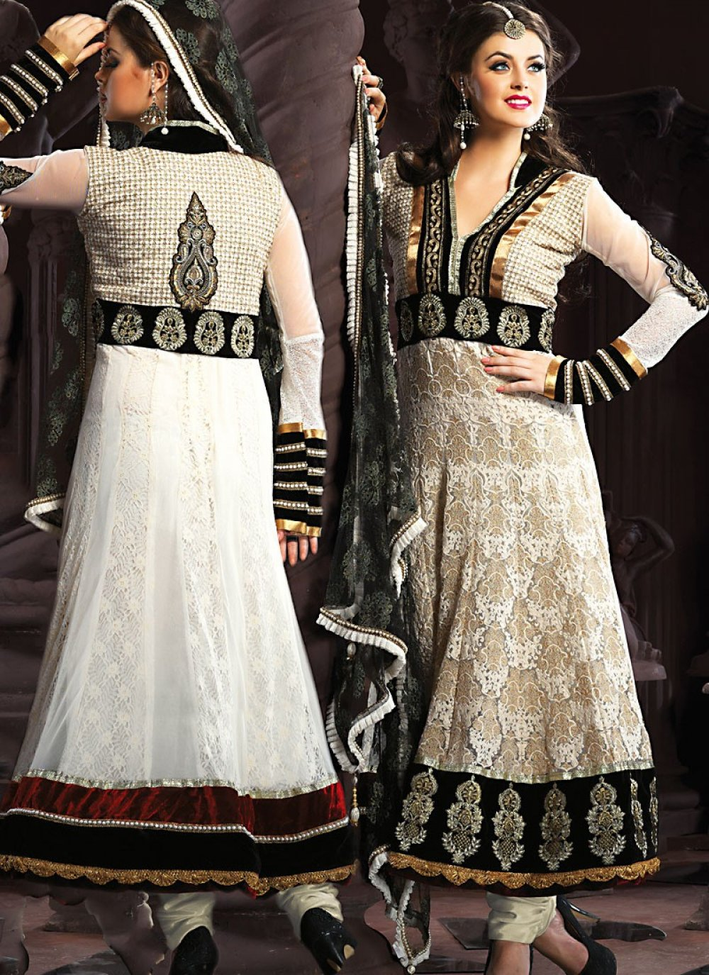 Black & White Anarkali