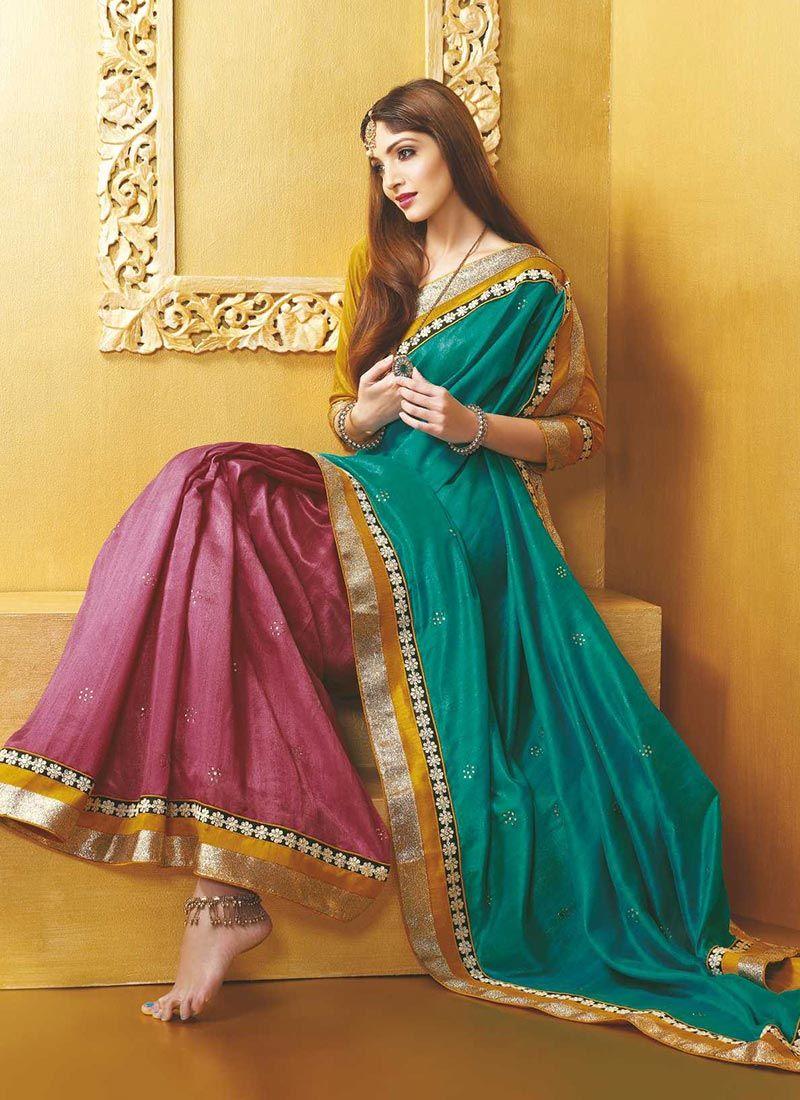 Green Art Silk Casual Saree