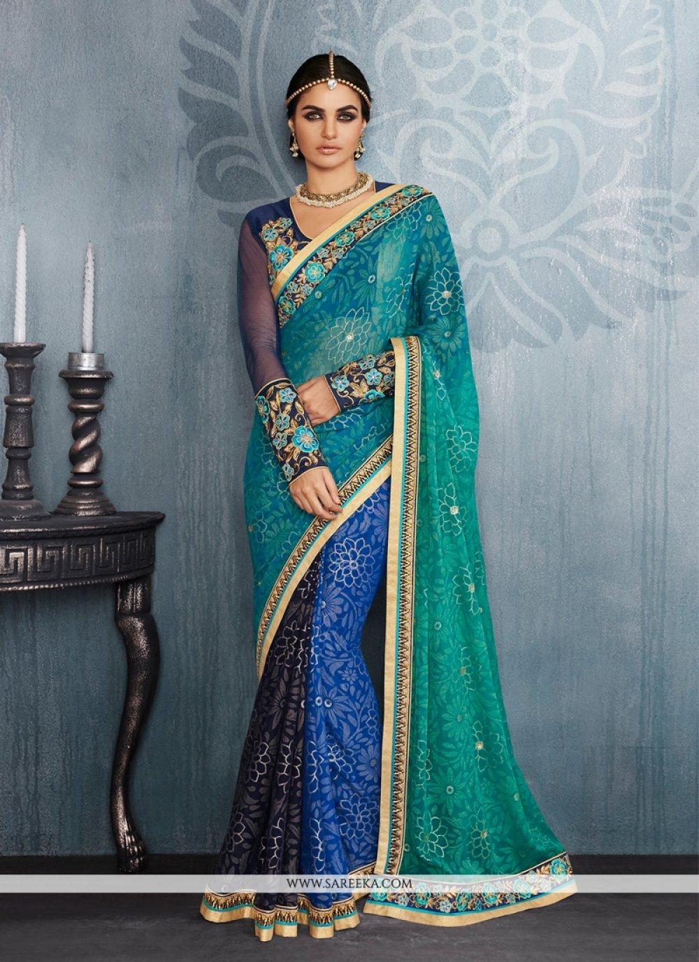 Embroidered Work Designer Saree
