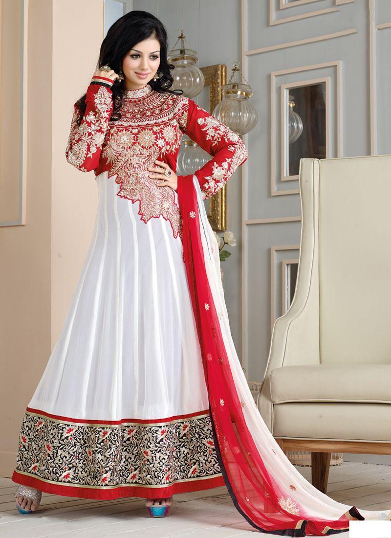 Ayesha Takia Off White Georgette Anarkali Salwar Suit