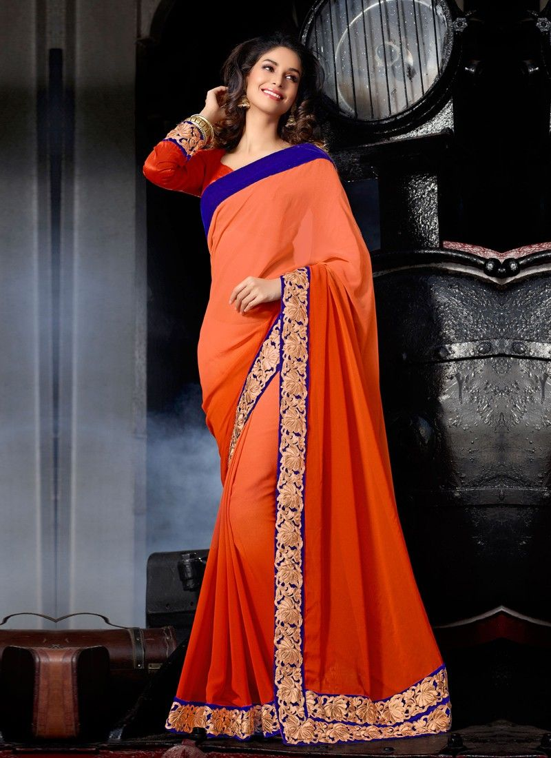Sari with Lace