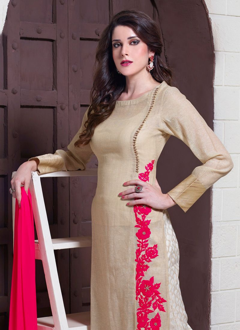 Jute Silk Designer Suit