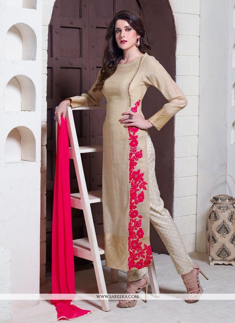 Jute Silk Designer Suit - Salwar Kameez