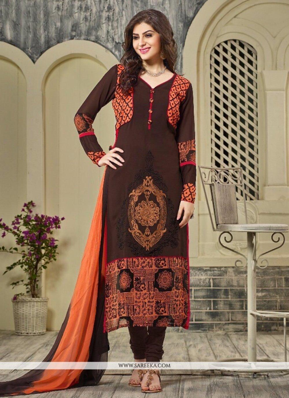 Georgette Designer Straight Salwar Suit