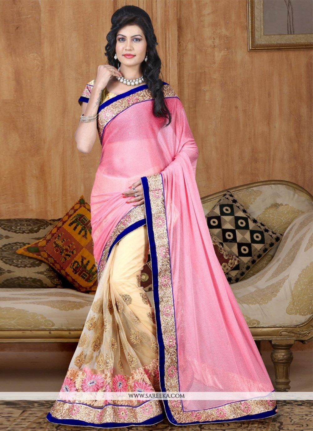 Half N Half Designer Saree For Reception