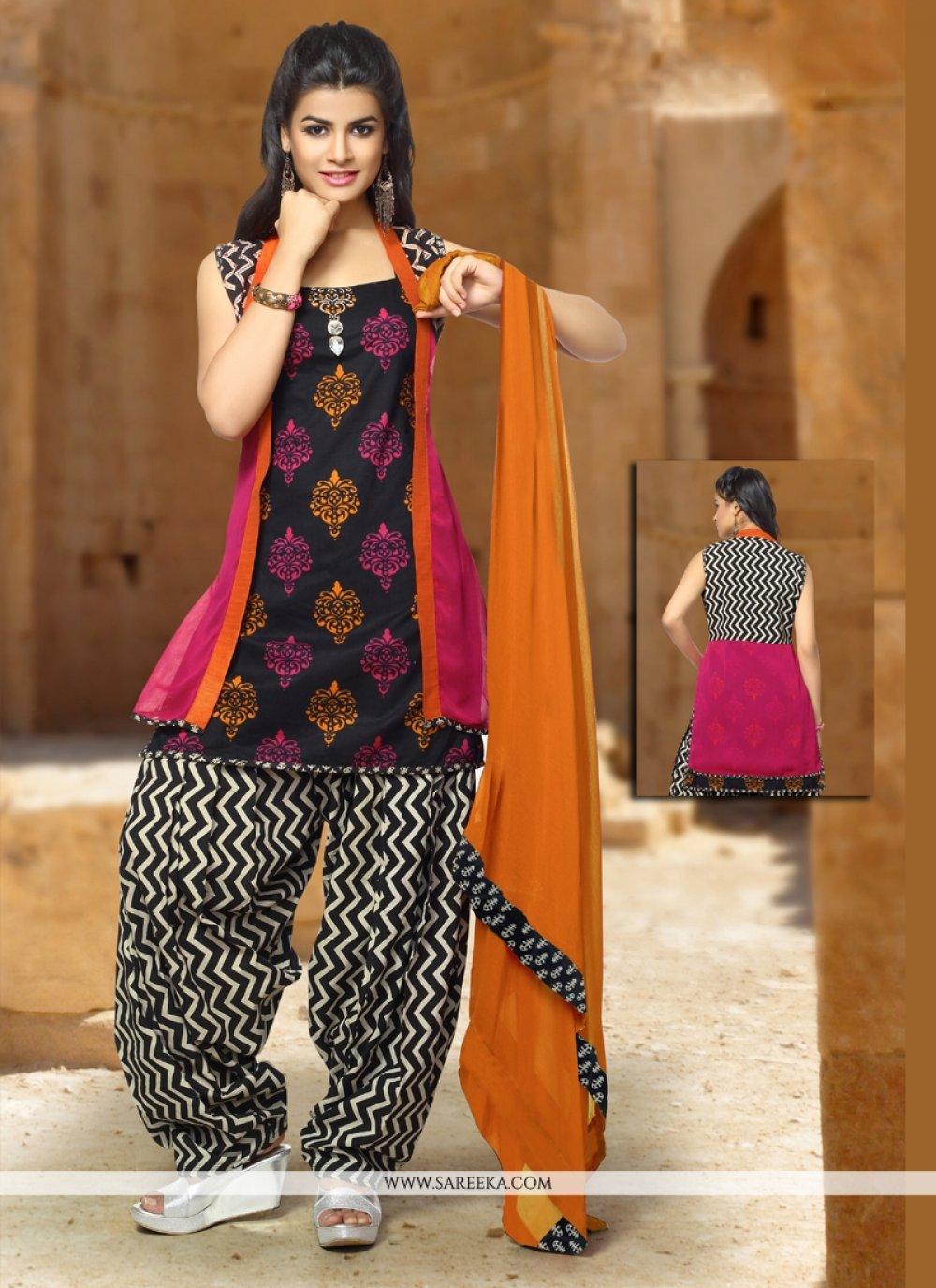 Art Silk Embroidered Work Trendy Punjabi Churidar Suit