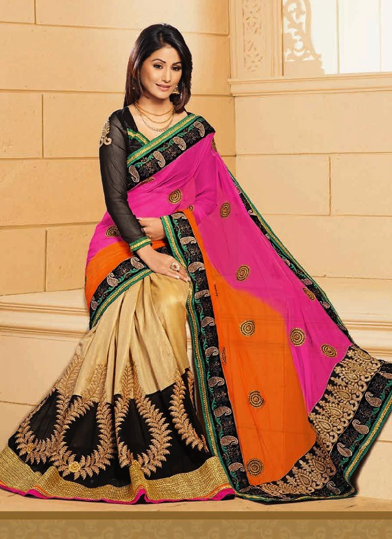 Akshara Beige And PInk Designer Saree