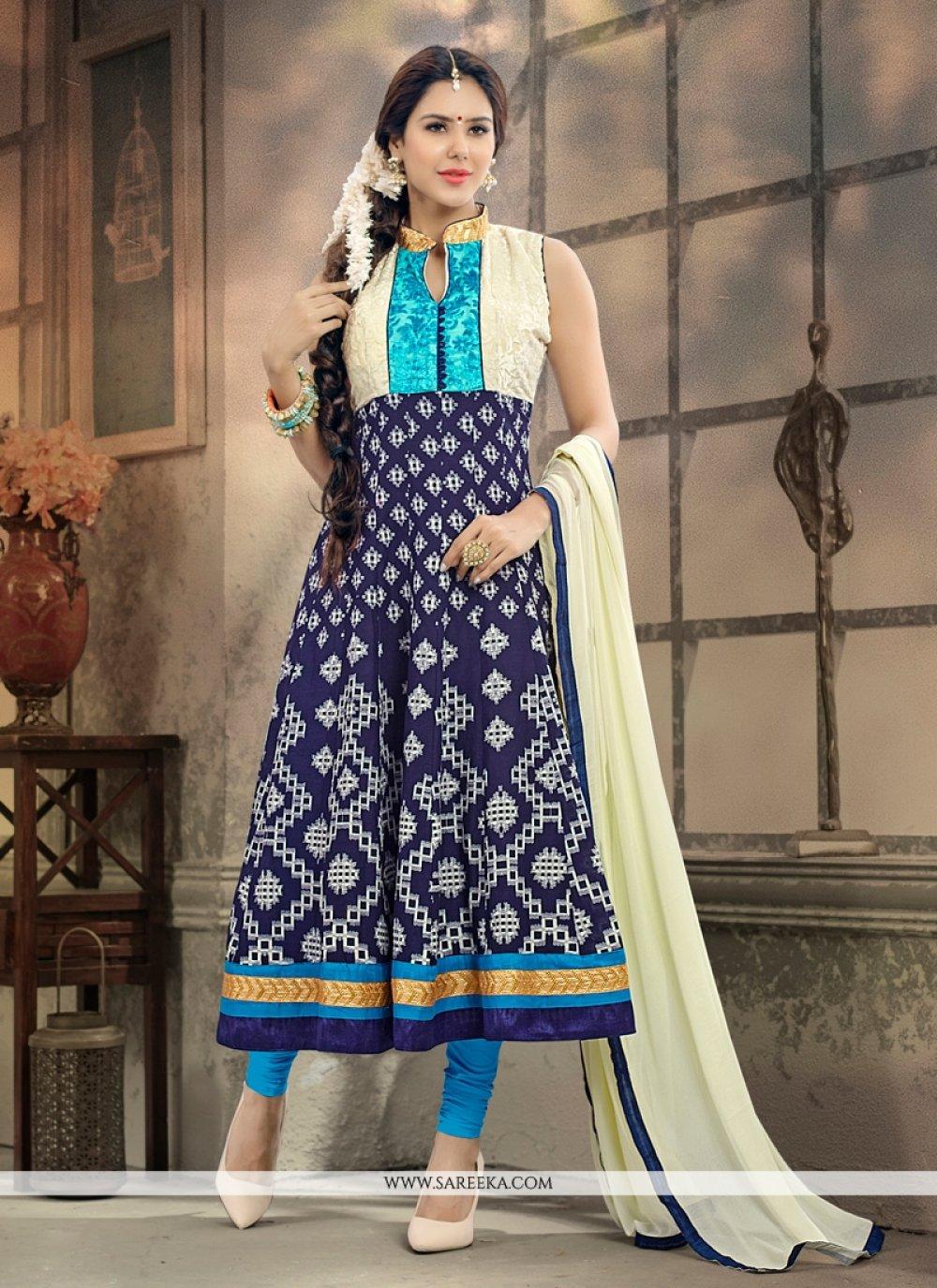 Blue Anarkali Salwar Kameez