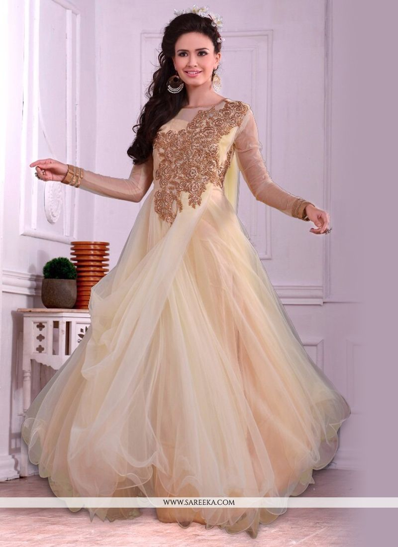 Embroidered Work Net Designer Gown