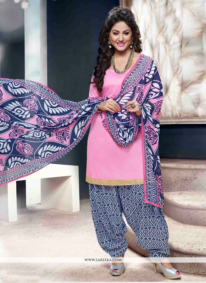 Pink Lace Work Designer Patiala Suit