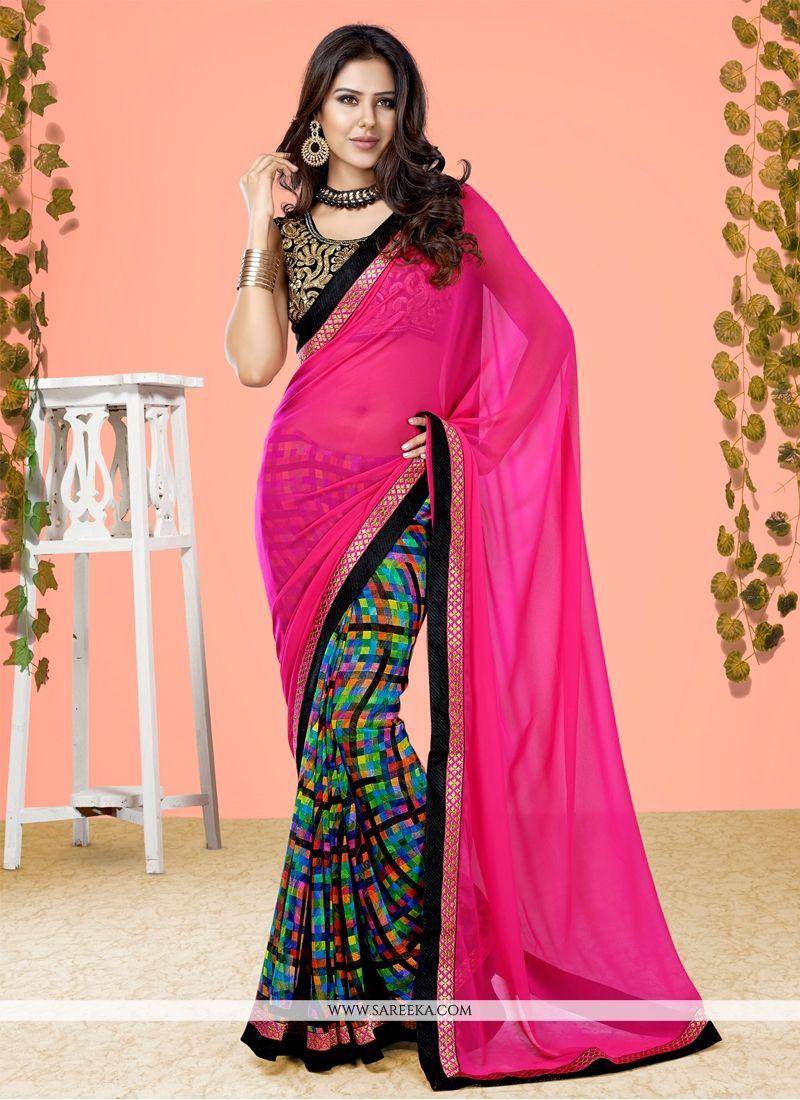 Designer Half N Half saree For Festival
