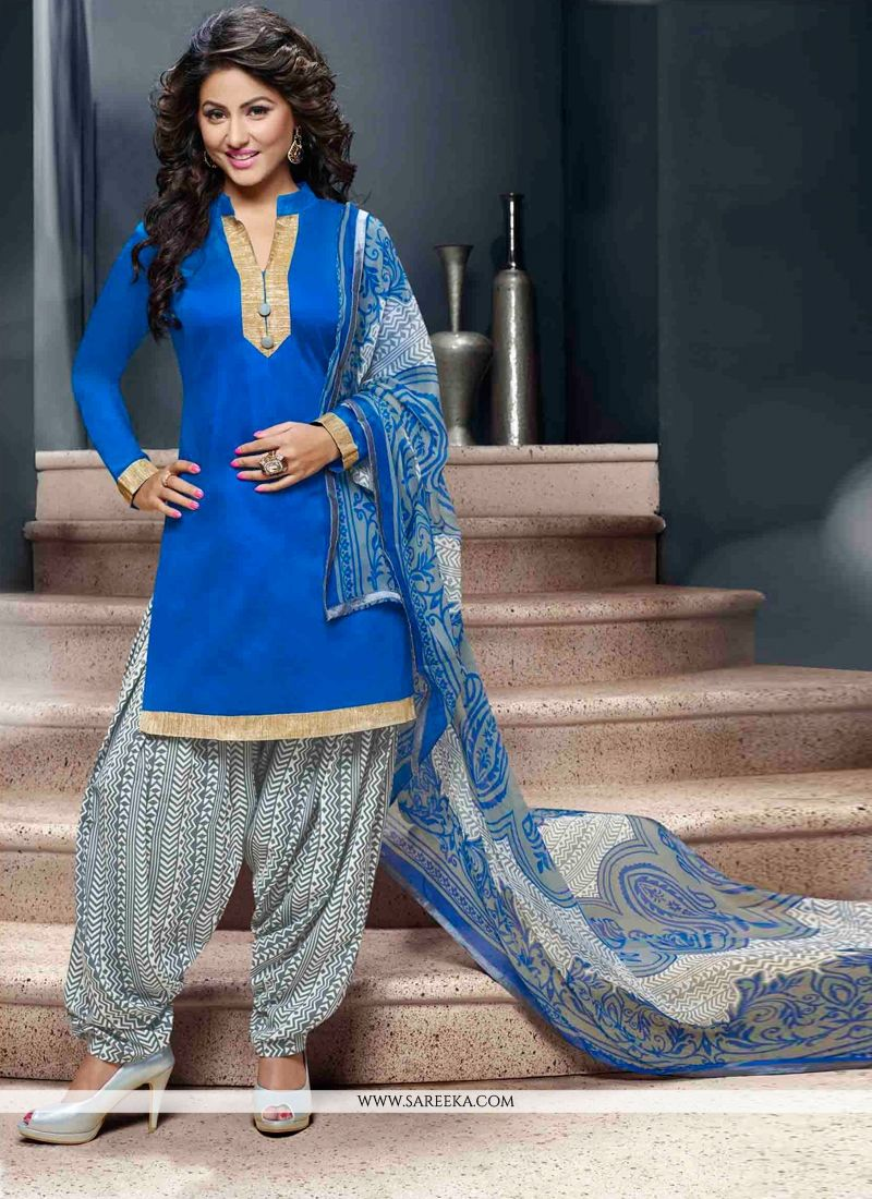 Lace Work Designer Patila Salwar Suit