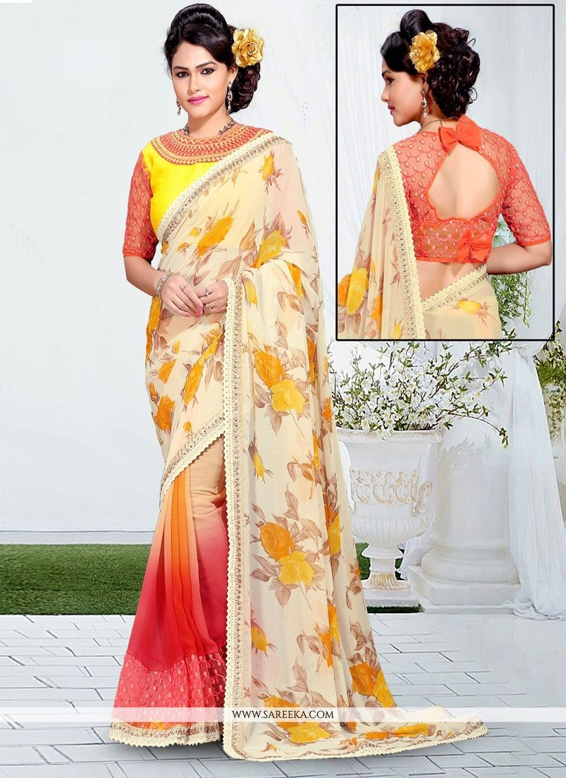 Net Lace Work Designer Saree