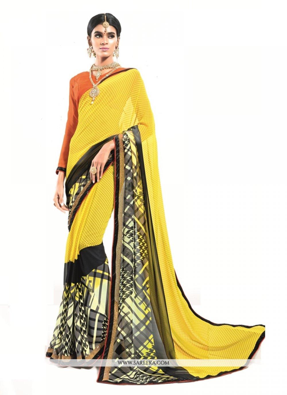 Yellow Designer Saree