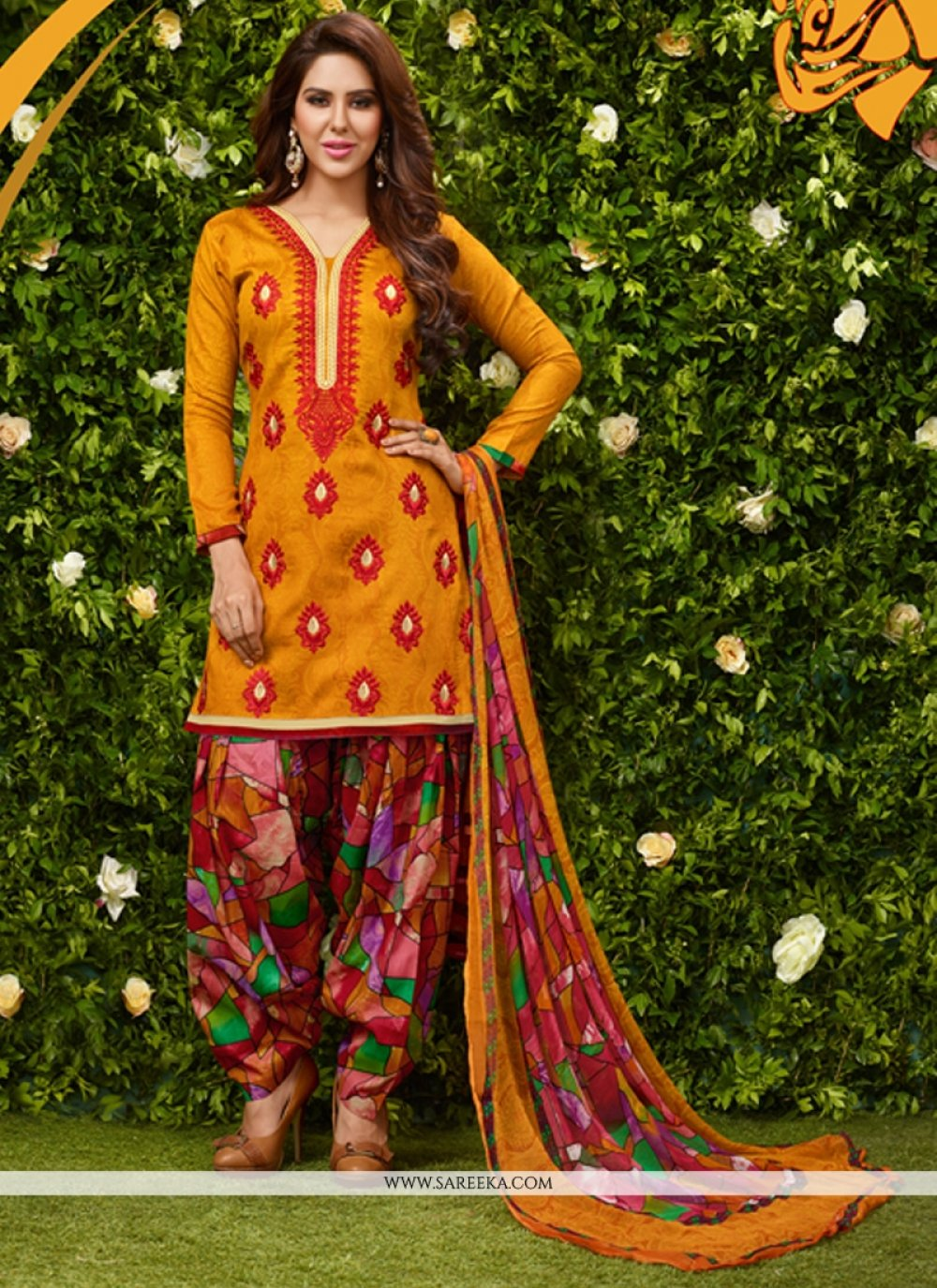 Glessh Lace Work Designer Patiala Suit