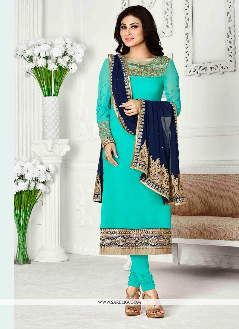 Talismanic Embroidered Work Georgette Designer Suit