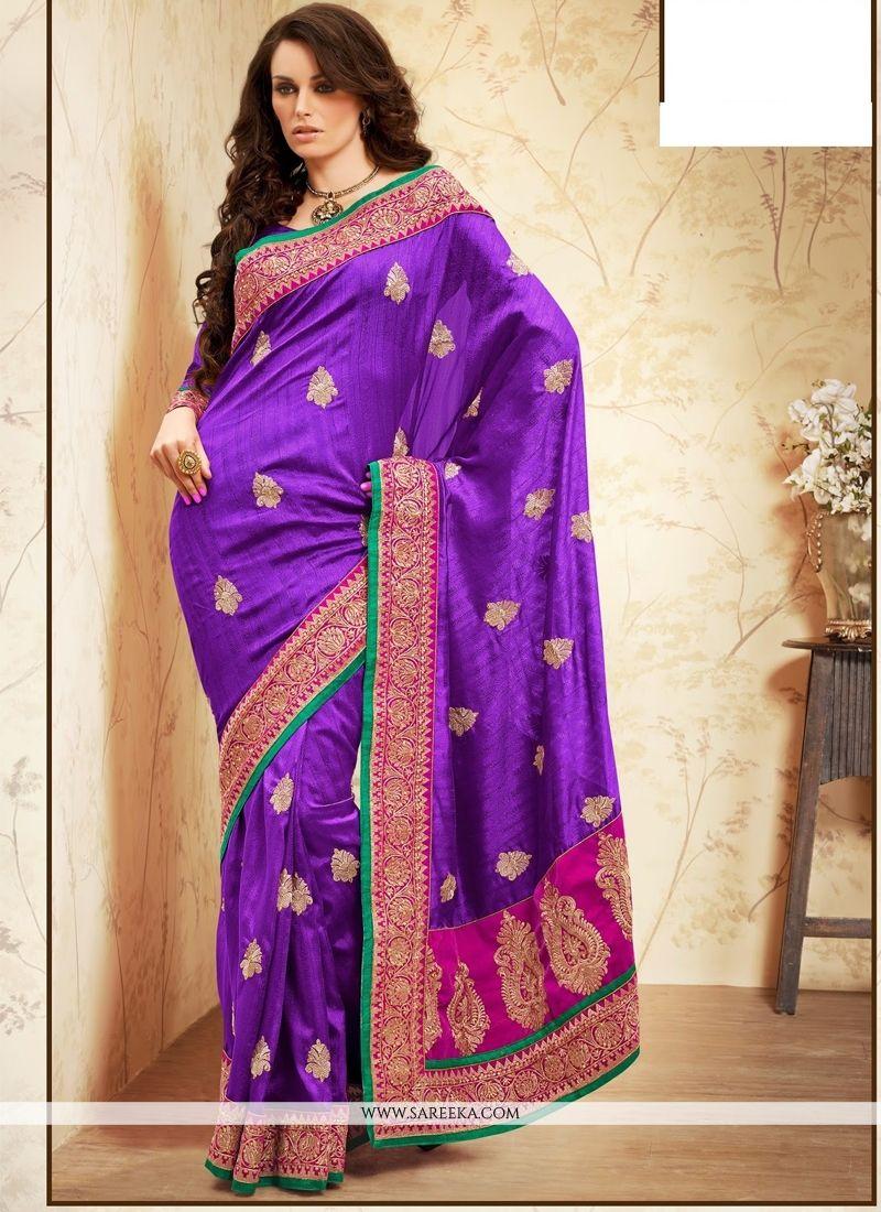 Bhagalpuri Silk Embroidered Work Designer Saree