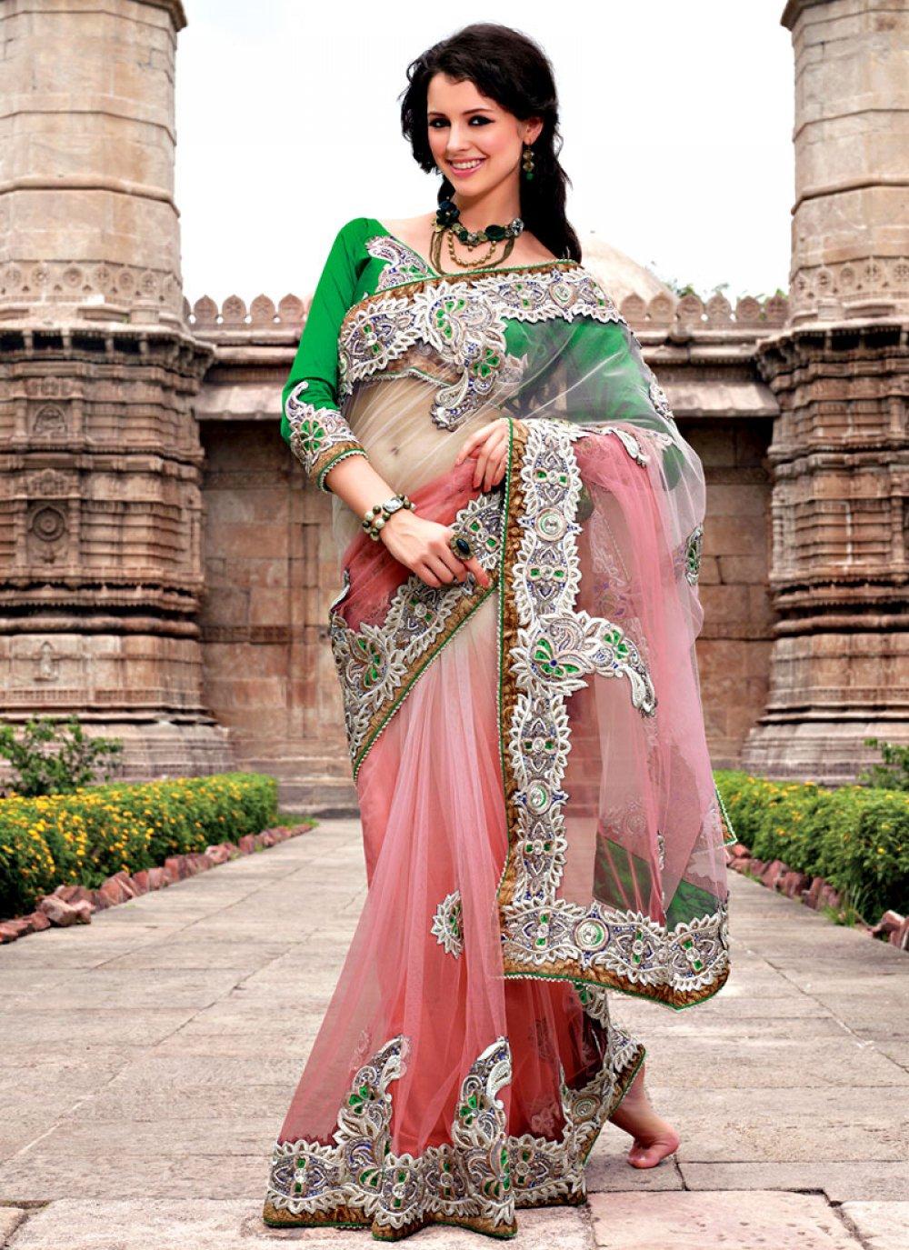 Engagement Net Saree