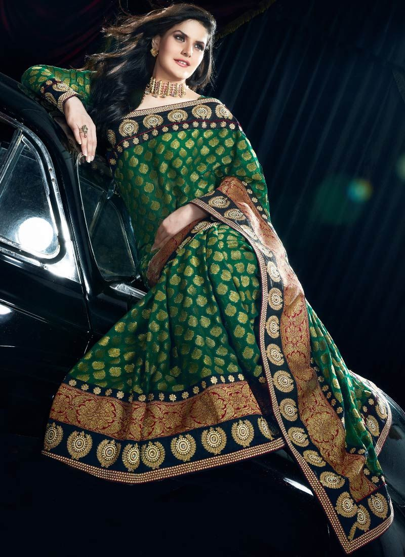 Green Viscose Saree