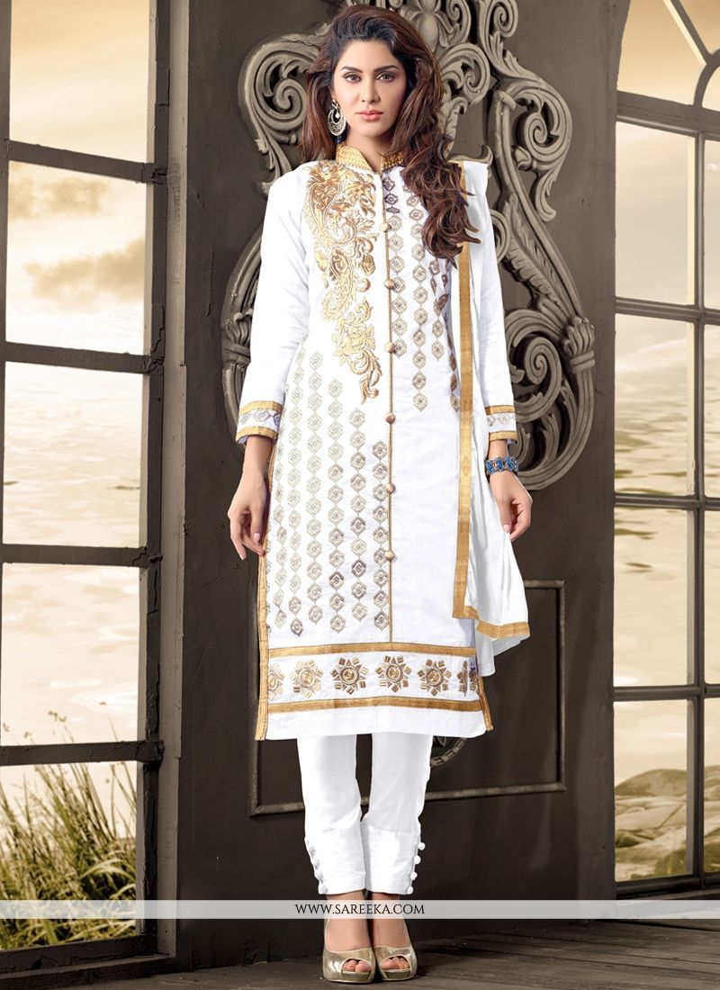 Cotton   Zari Work Designer Salwar Suit