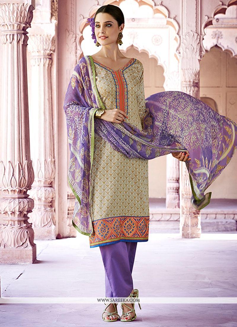 Lace Work Cotton   Designer Pakistani Salwar Suit