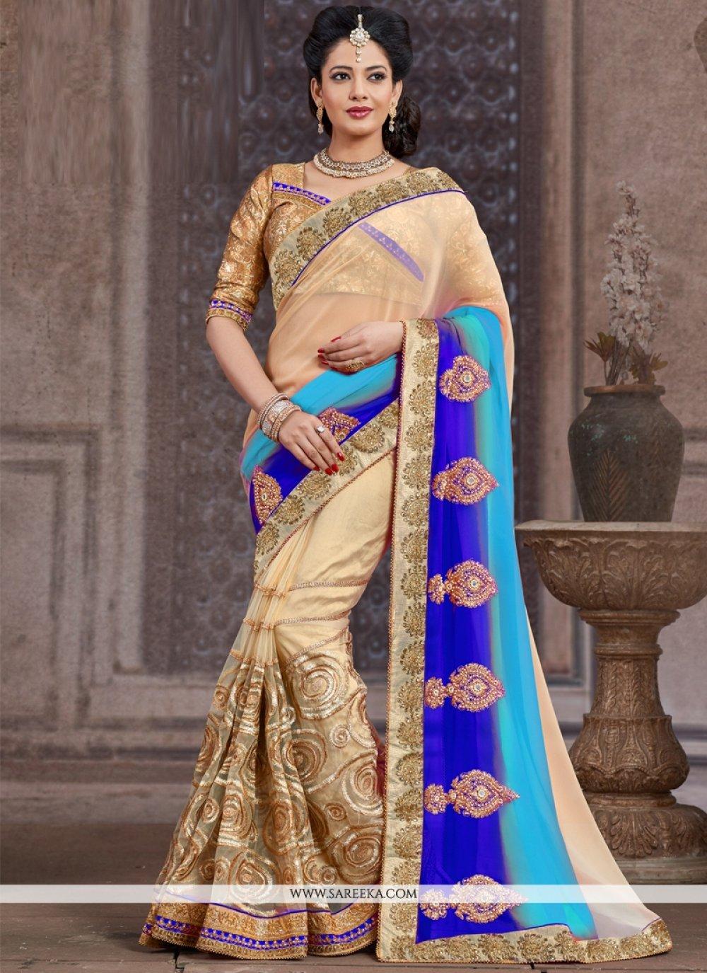 Net Zari Work Designer Saree