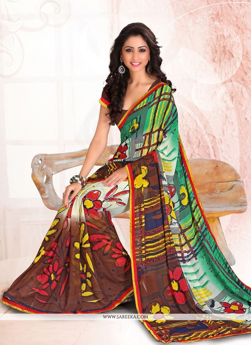 Multi Colour Casual Saree