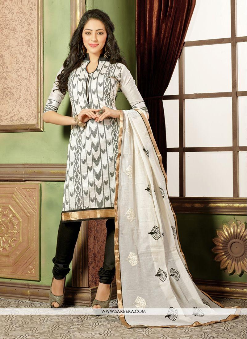 White Churidar Salwar Suit