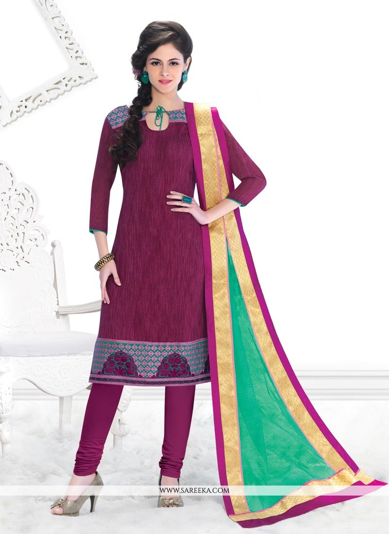 Chanderi Churidar Salwar Suit