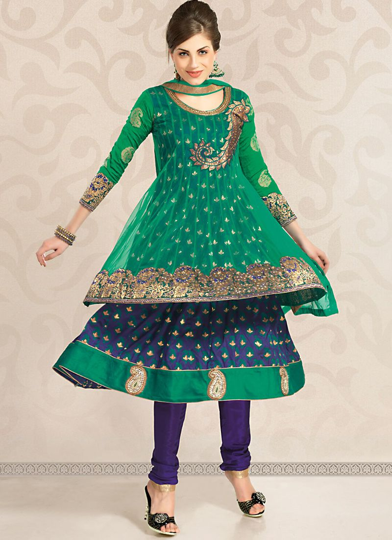 Can Blue & Navy Blue Salwar Kameez