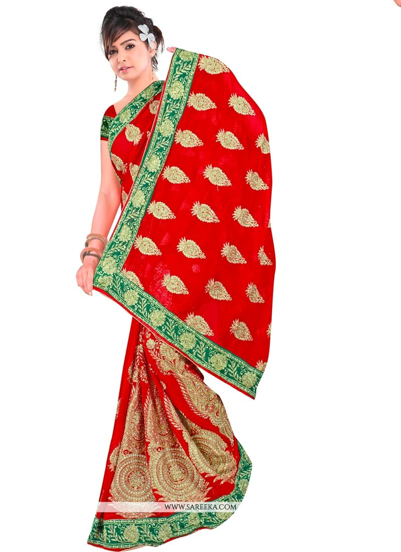 Contemporary Style Saree For Reception