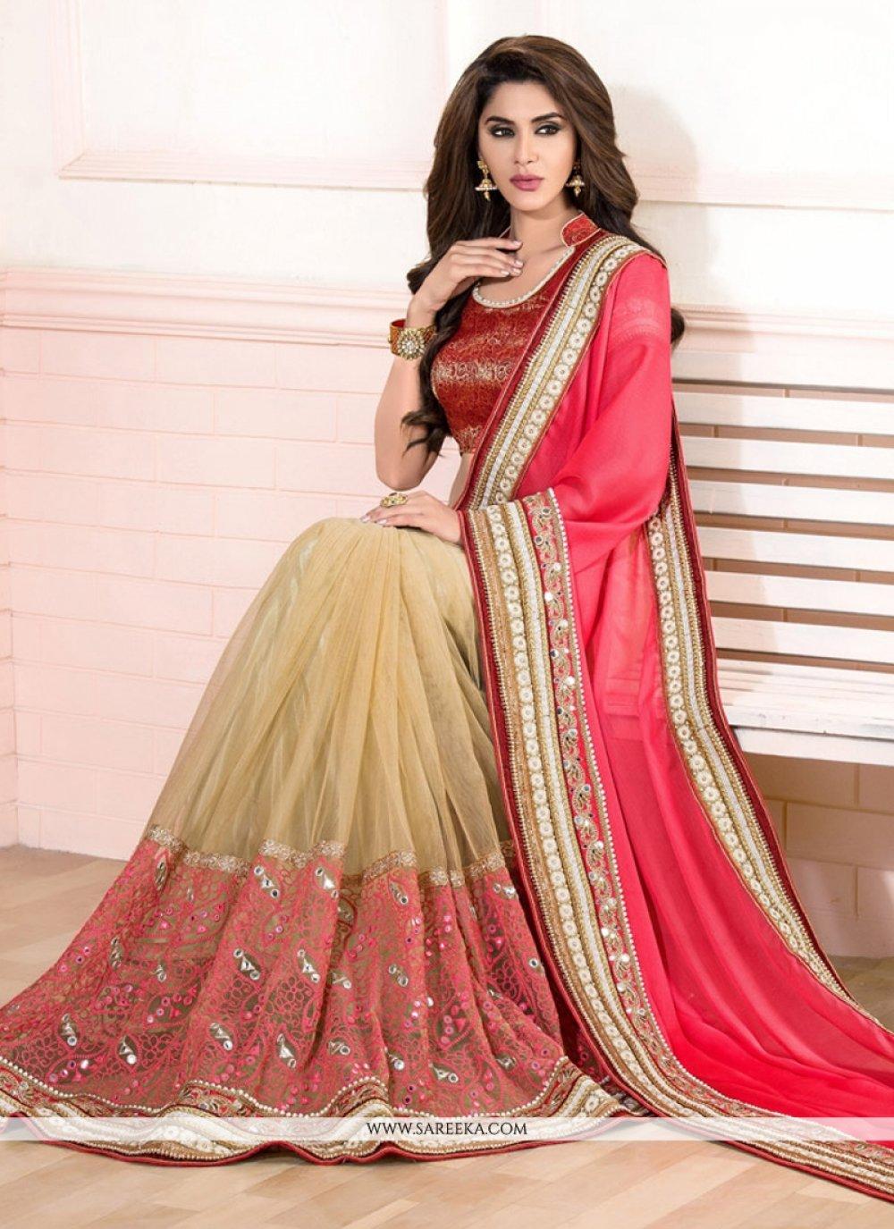 Embroidered Work Silk Designer Saree