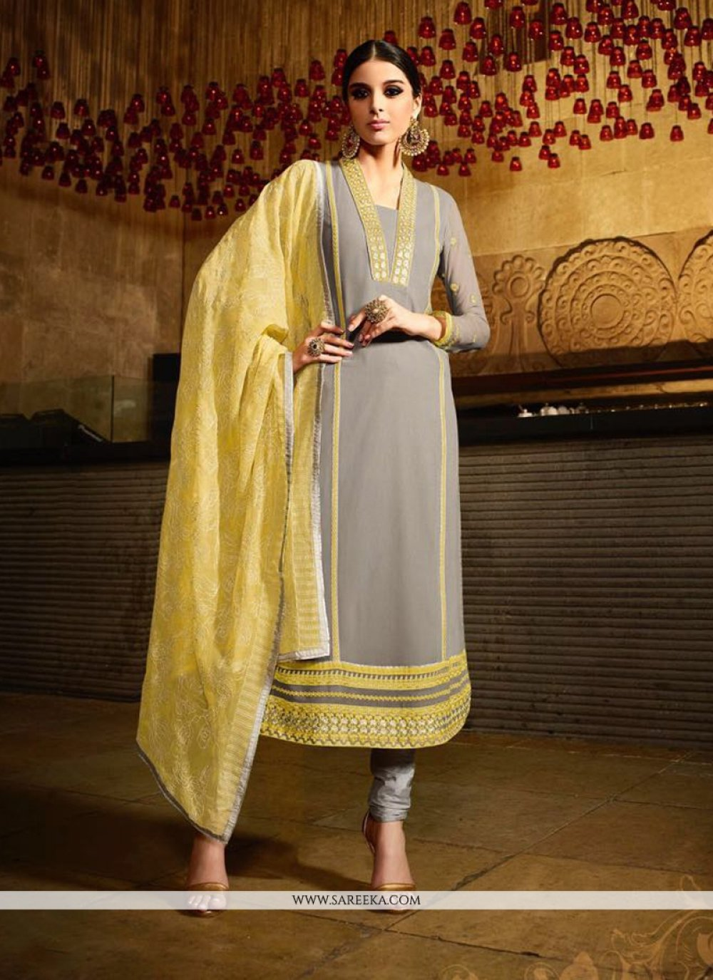 Lace Work Georgette Designer Suit
