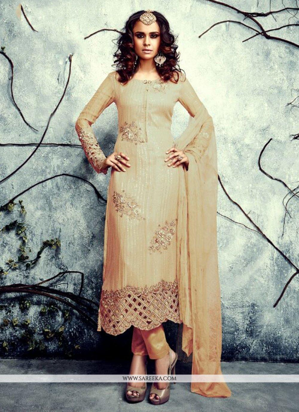 Georgette Embroidered Work Designer Suit