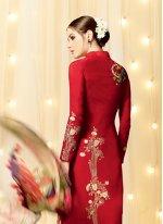 Embroidered Work Designer Straight Salwar Kameez