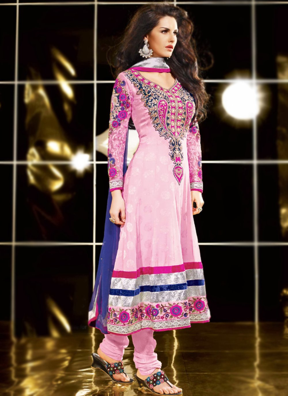 Rose Pink Anarkali Suit