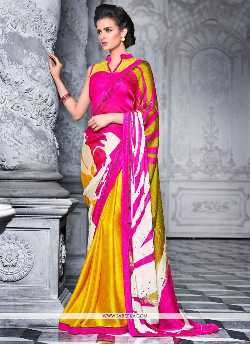 Satin Casual Saree