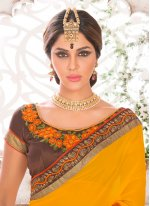 Georgette Patch Border Work Classic Saree