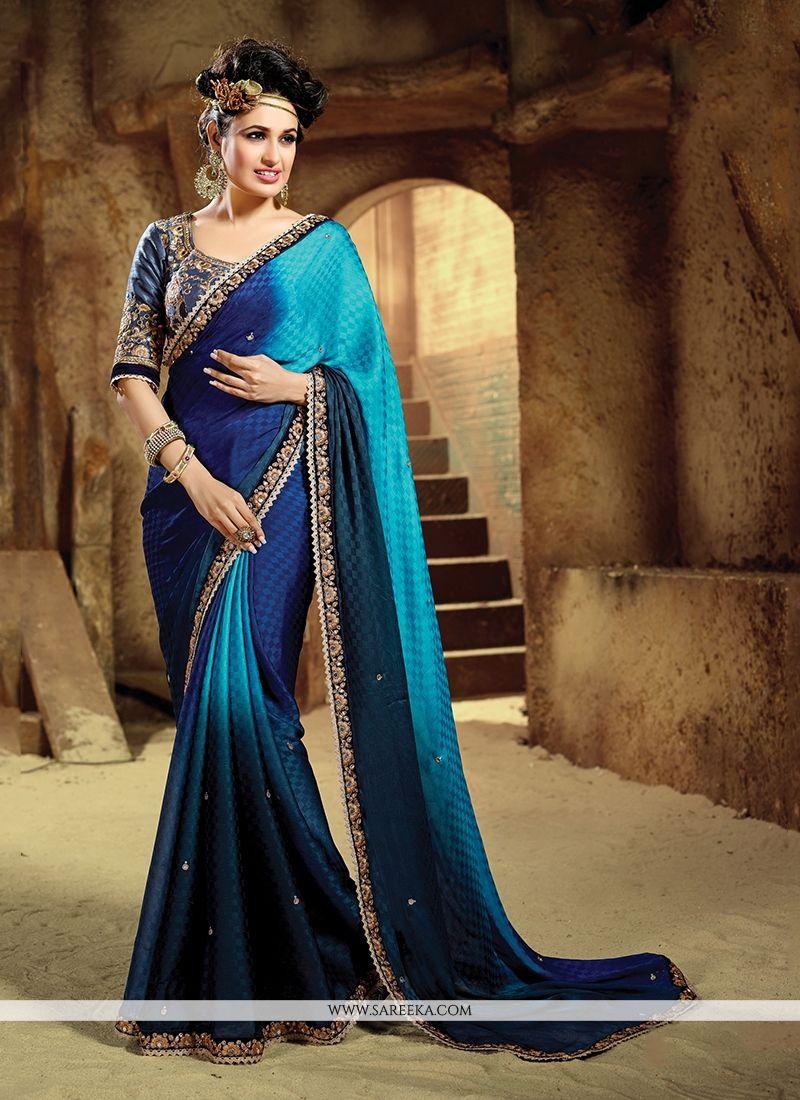 14894cfa0ac Buy Navy Blue Designer Saree Online   Malaysia -
