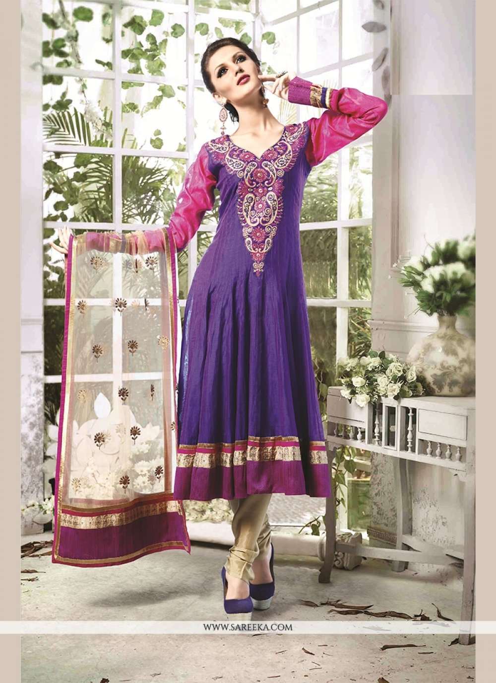 Embroidered Work Readymade Suit
