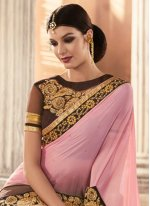 Patch Border Work Classic Designer Saree