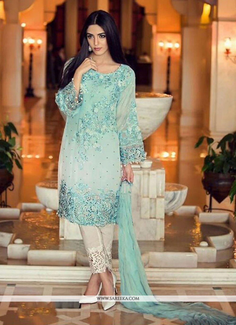 Embroidered Work Georgette Designer Salwar Suit